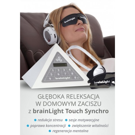 BrainLight Touch Synchros – Piramida do muzykoterapii światłoterapii i synchronizacji częstotliwości