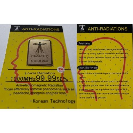 Tarcza Kwantowa Gold 24K – antyradiator neutralizujący promieniowanie elektromagnetyczne telefonu komórkowego